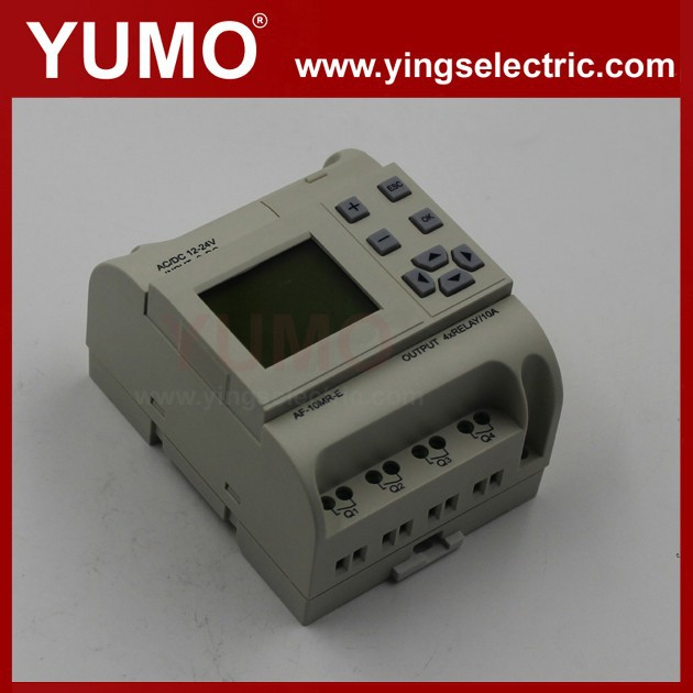 AF series DC12 24V 6 points DC input 4 points relay output price PLC plc simulator