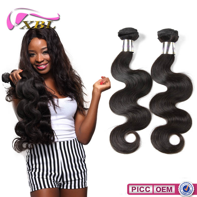 XBL factory price cheap wholesale high quality body wave Brazilian hair weave