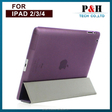 Ebay China smart leather 4 folding stand Case for iPad 2/3/4