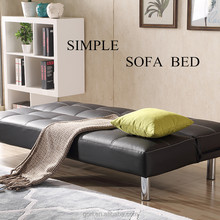 Gorl color options wooden box metal foot PU leather foam foldable sofa bed AS19