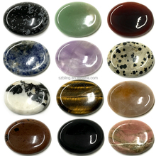 Smooth polished worry stones,mixed gemstone worry stones