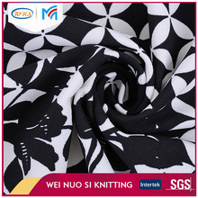 China factory price soft print flower knit scuba crepe fabric for lady cloth