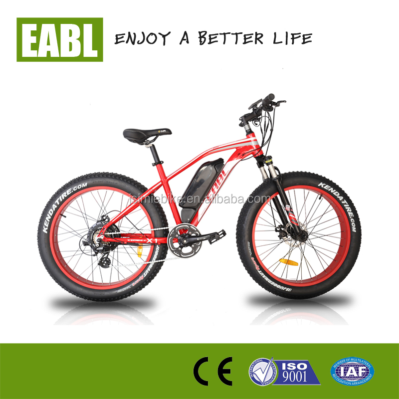 Colorful big rims and 7speed 500w electric fat bike /mountain bicycle