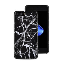 For Iphone 7 Plus Hard Rubber Phone Cases For iphone 7 Plus Black Marble Cover