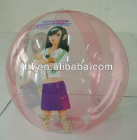 Inflatable beach ball girls