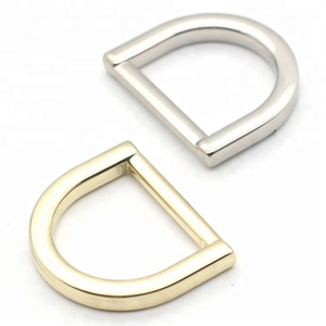 D shape buckle handle hardware bag accessories metal d ring for bags