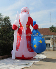 Christmas inflatable Old World Santa Claus with gift bag