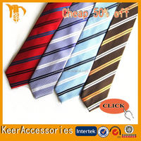 2015 New Arrival Gentlemen italian silk fabric Stripes necktie