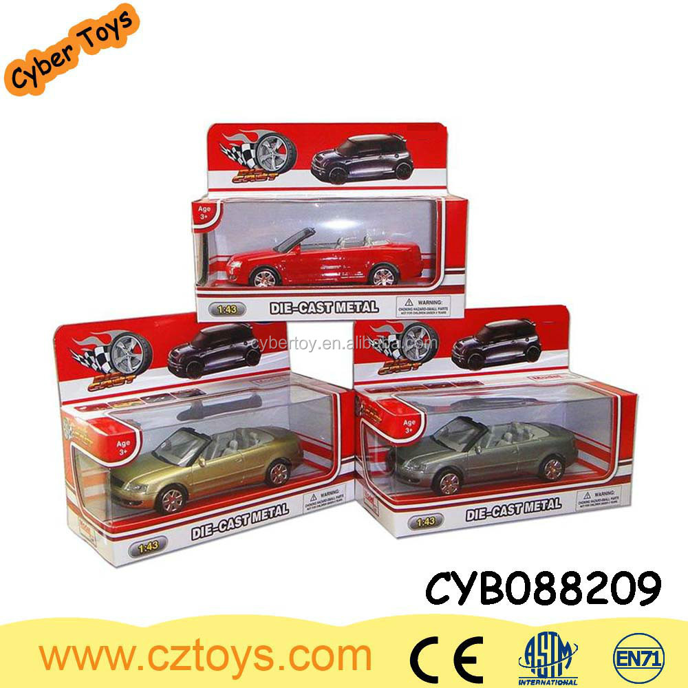 3 color 3 style assorted 1:43 metal alloy toy model die cast car for kid