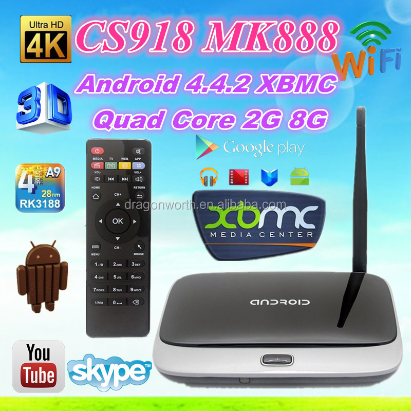 CS918 Quad Core Android Tv Box /RK3188 Quad Core 2GB/16GB google android tv box support camera