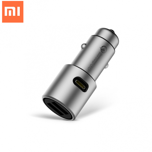 Xiaomi MI Car Charger Dual USB Fast Charging QC 3.0 Car Chargers Competiable with Most Phones Tablets PC