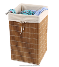 Bamboo laundry basket Bamboo wicker Square laundry hamper