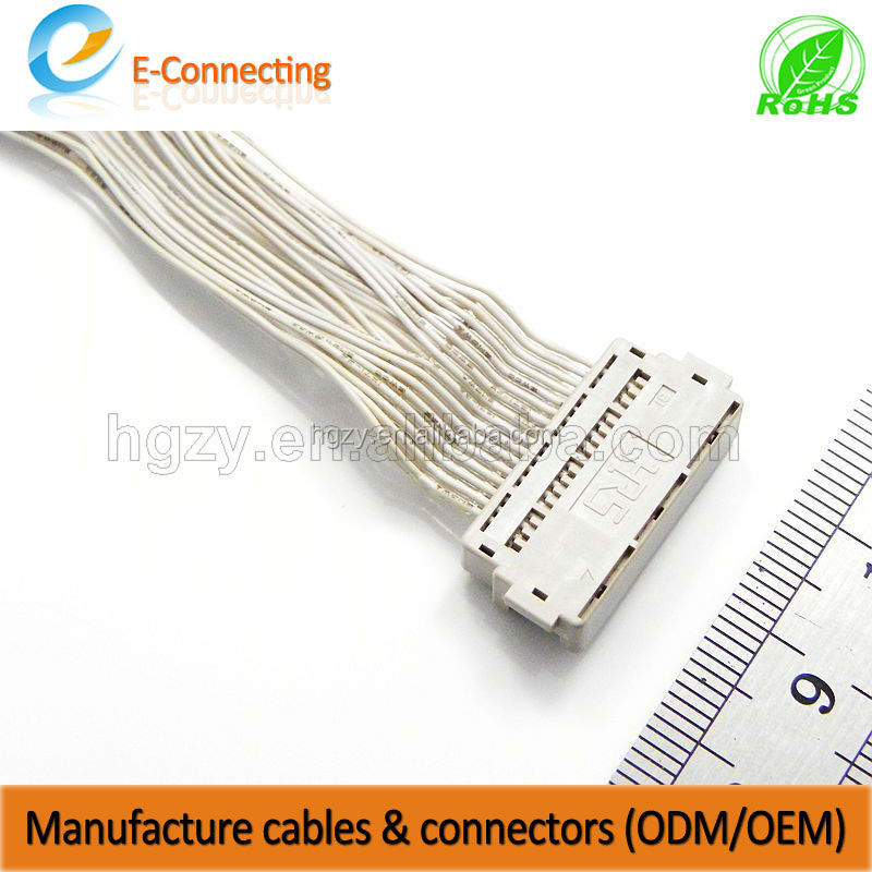 Wholesales LCD wire harness assembly both end with HRS DF9 connector