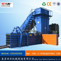 Hydraulic automatic horizontal manual strapping paper baler for sale