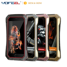 Waterproof Shockproof tough Gorilla Glass Aluminum Metal cover case for Iphone5/6/7/6+/7+