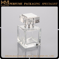 Factory supply attractive price empty glass perfume bottle pendant