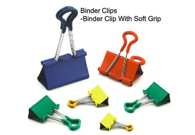 quality office binder clip with soft grip