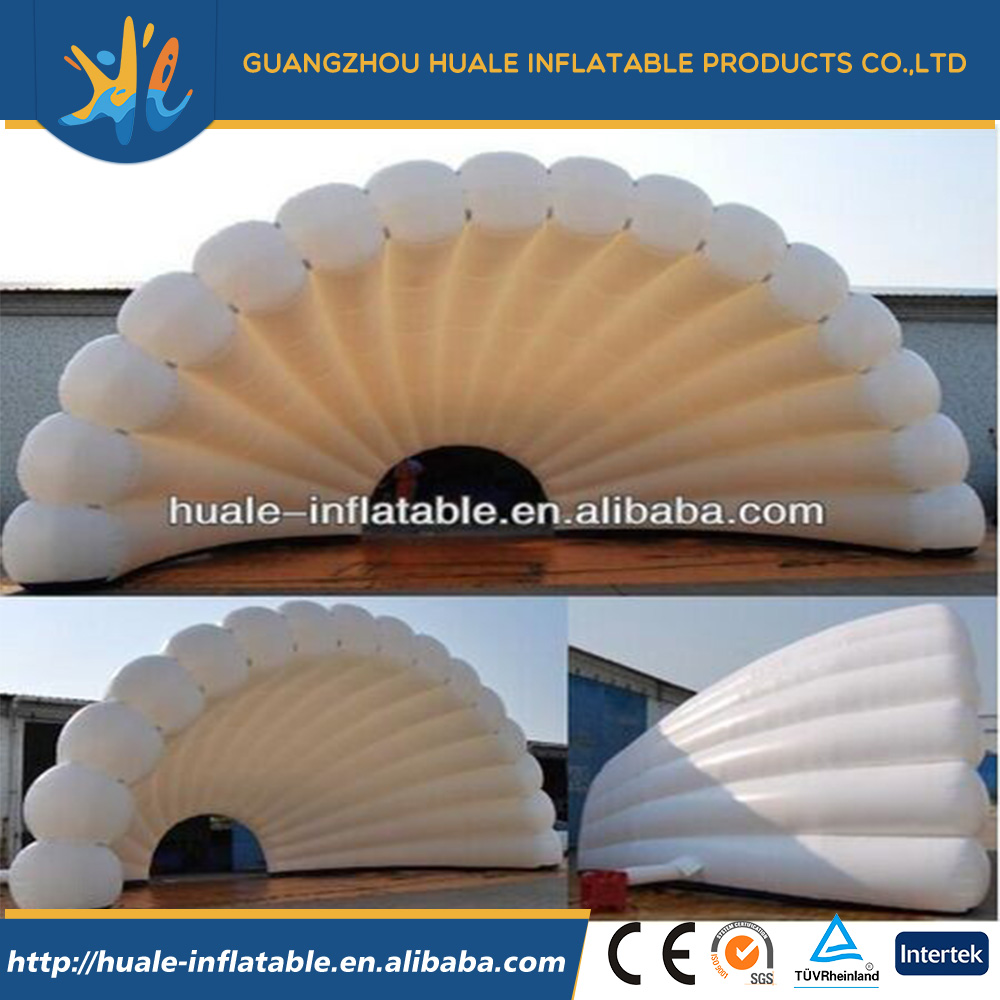Excellent quality cheap white inflatable stage shell, cheap outdoor tent inflatables for sale