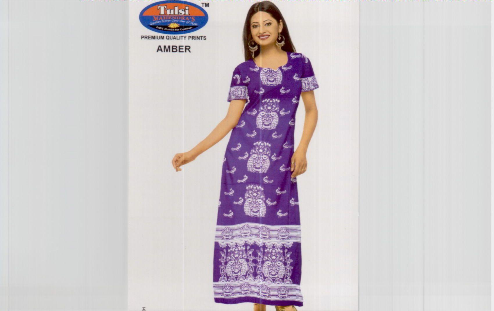 Ladies Night Gown,Printed Gown,Nighty,Nightwear - Buy Nightwrar ...