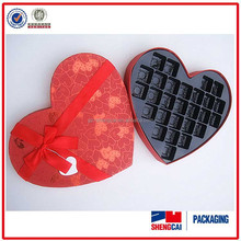 Custom wholesale heart shaped packaging strawberry gift shengcai scpb14062017 chocolate box