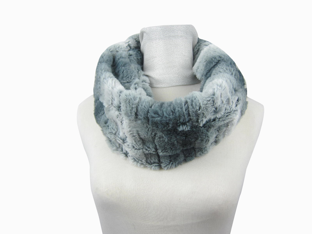 Professional style elegant winter coats faux scarf fur ladies