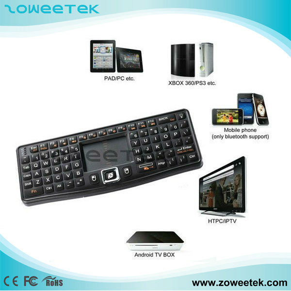 mini wireless keyboard with trackball mouse for IPAD