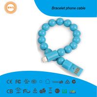 Pearl Bracelet phone cable 8 pin type-c mirco usb
