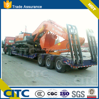 Low bed semi trailer trucks dimensions optional for excavator and bulldozer transportation