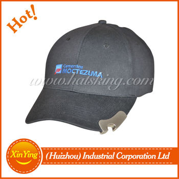 high visibility baseball cap with bottle opener