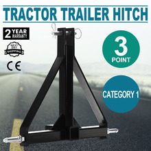 "3 Point 2"" Receiver Trailer Hitch Category 1 Tractor Tow Hitch Drawbar Adapter"