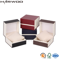 Harwoo Brand Small Velvet Box Watch