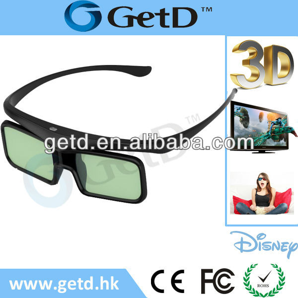 Built-in CR2025 battery bluetooth 3D Glasses with 300hrs continous working time