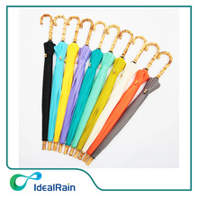 New metal frame windproof color change straight umbrella