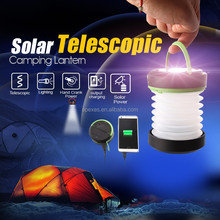 Handy telescopic LED light Camping Lantern with emergency mobile power bank