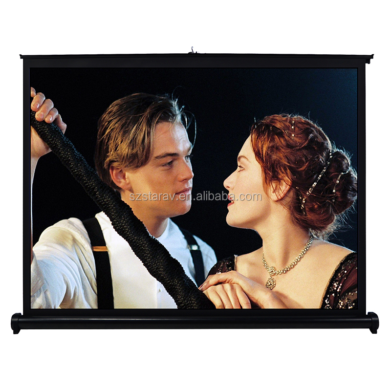 50 inch 16:9 H50 PortableTable Projector Screen Durable Matt White Fabric for Outdoor travelling camp special for DLP projector