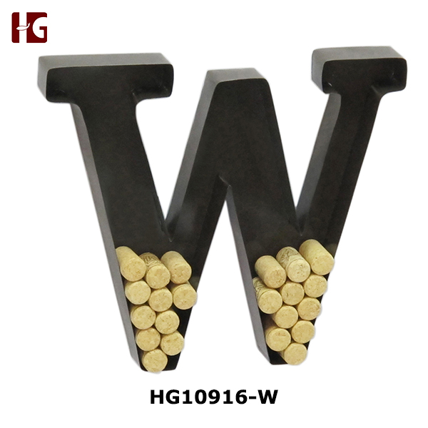 Hot Seling Metal Letter Wine Cork Holder