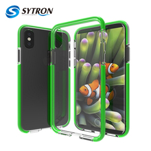 Two Tone High Protective Cellphone Case for iphone 8 TPU+TPE Hybrid Combo Cover