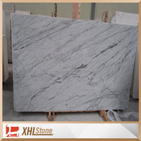 Polished italian white marble slab bianco carrara slabs