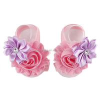 Lovely Infant Kids Barefoot Sandal Chiffon