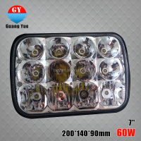 Factory price 7 inch 60w led work light C ree led offroad light