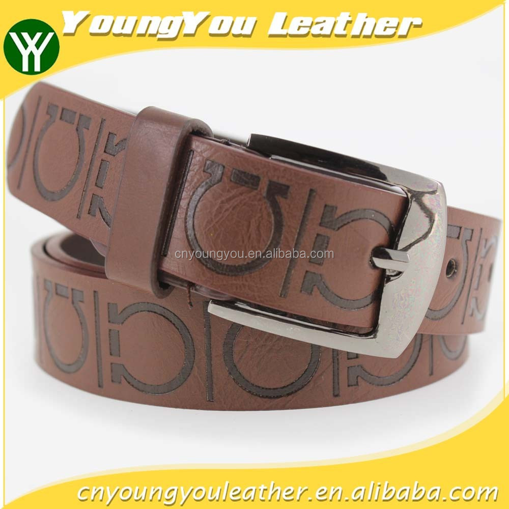 1 INCH Men's fashion Black PU leather belt casual waist belt for jeans