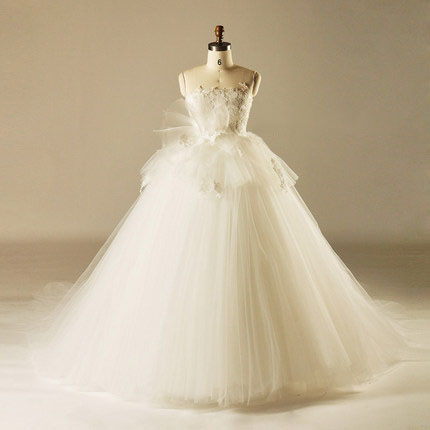 AH1512 layers tulle ball gown wedding factory bridal dress with tail sweep train wedding dress in istanbul