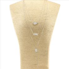 Wholesale fashion gold simple style 3 layers handmade best friend necklace