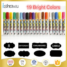 12 color dry Eraser 6mm Reversible Tip Chalk Marker Pen - felt tip color pen