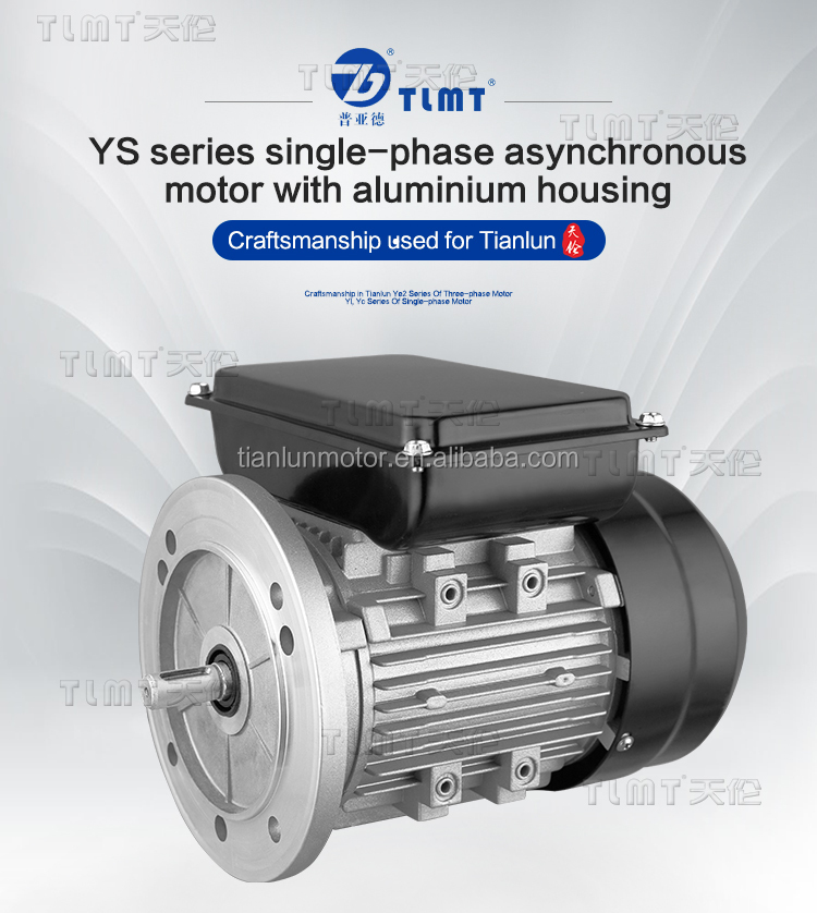 MS series three phase asynchronous electric motor with aluminum housing