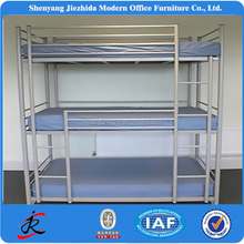 Popular tirple steel frame adult hotel use cheap metal bunk beds sales