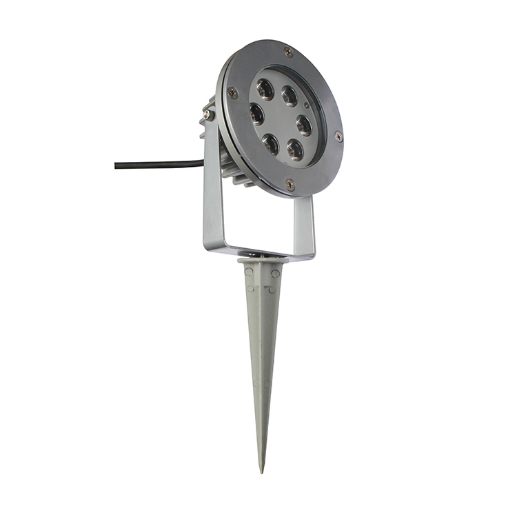 Hot Sale 12V 6W 12W RGB 110V led garden spike light with CE, RoHS