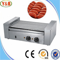 5/7/9 rollers stainless steel commercial hot dog machine/maker/grill