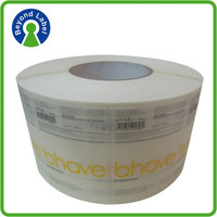 promotion skin care product roll label, print customer clear stickers