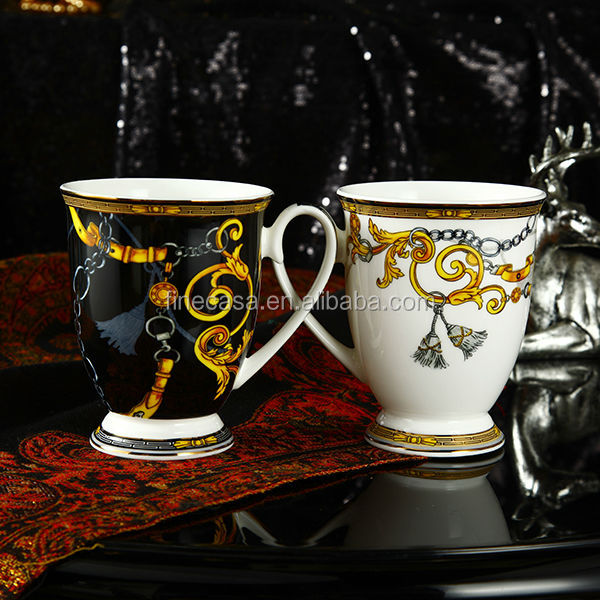 10oz Luxury Thin Bone China Ceramic Coffee Mug